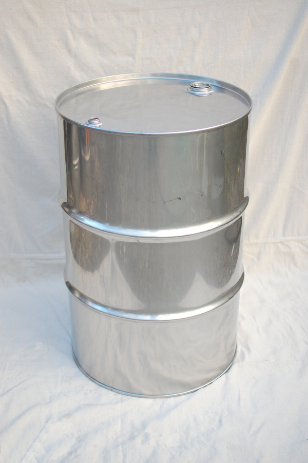 8 Pack Of 55 Gallon Closed Head Stainless Steel Drums
