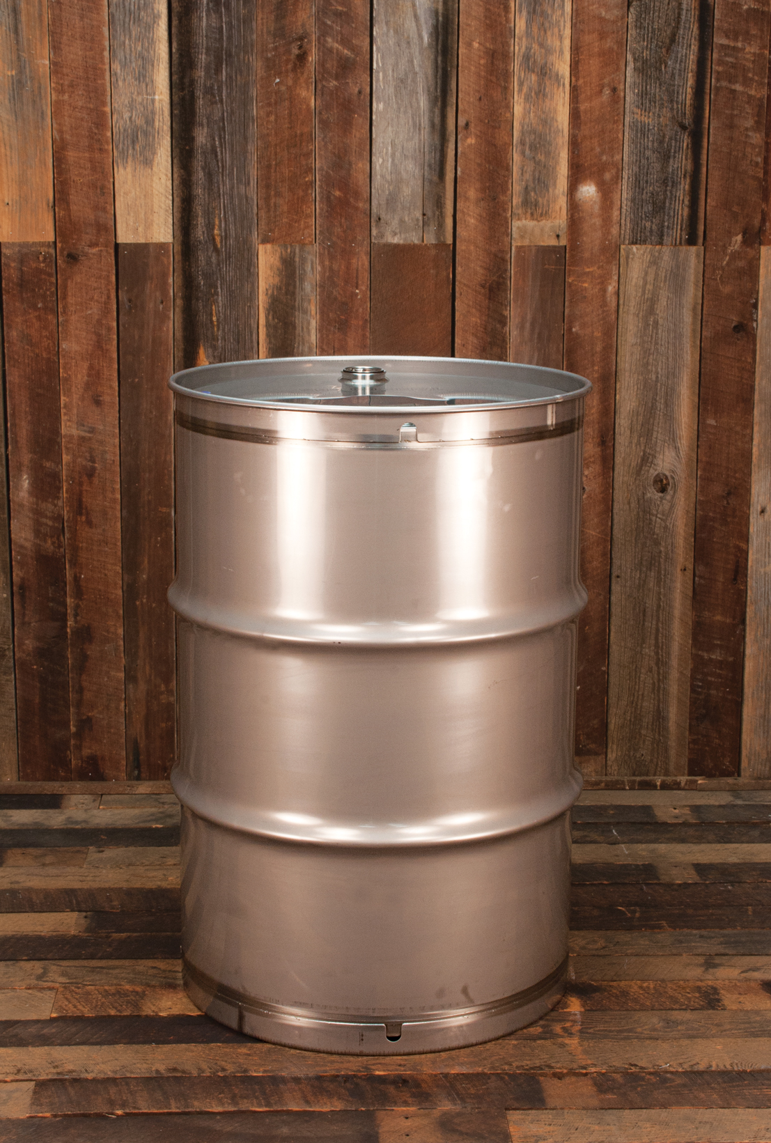 New 55 Gallon Seamless Stainless Steel Drum Tight Head