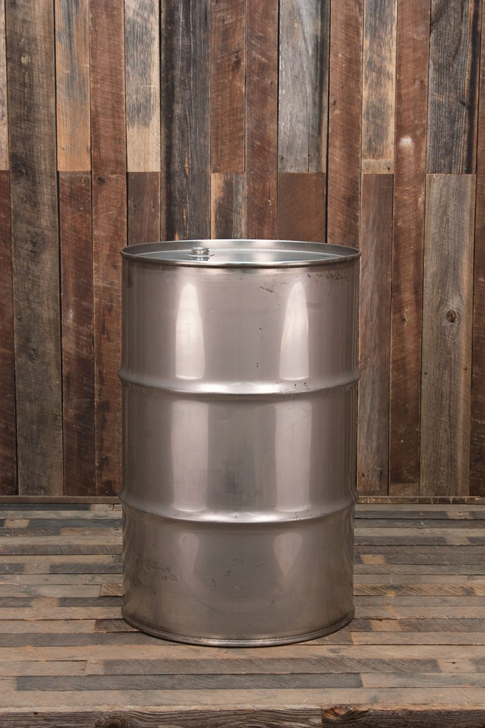 Dings And Dents >> 55 Gallon Stainless Steel Drum - Used, 16 Gauge | Bubba's Barrels