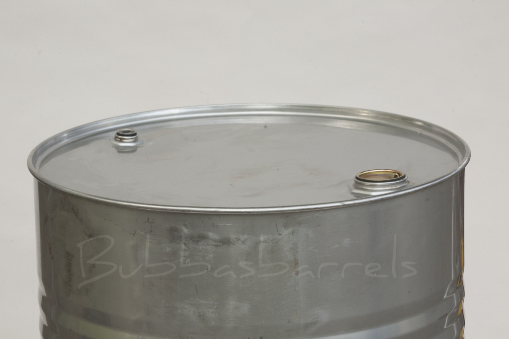 55 gallon stainless steel drum 20 gauge 9mm bubba 39 s for Metal 55 gallon drum