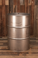 55 Gallon Stainless Steel Open Top Barrel