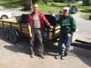 Sven and Steve from Blue Blaze Brewery taking home a trailer load of fermenters