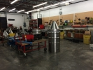Lots of activity in the new shop